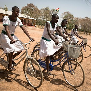 £140 could buy two bicycles for school girls